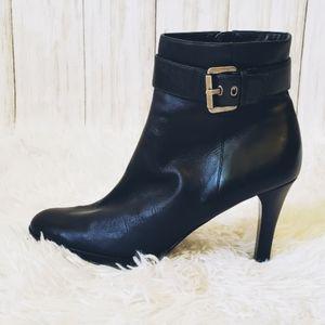 Alfani, stiletto, ankle boot, leather, black,